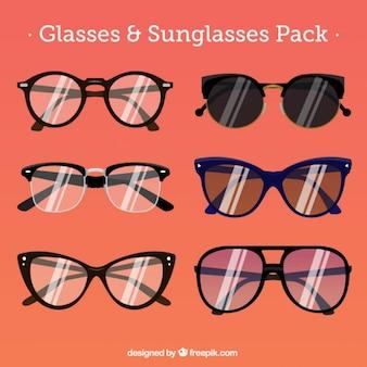 Kolekcja stylizowane okulary