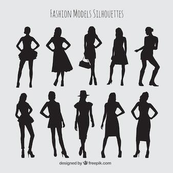 Kolekcja stylowych modelkami