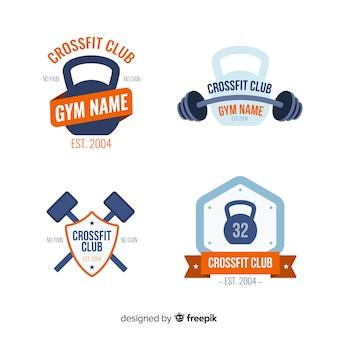Kolekcja Stylu Płaskiego Logo Crossfit Darmowych Wektorów