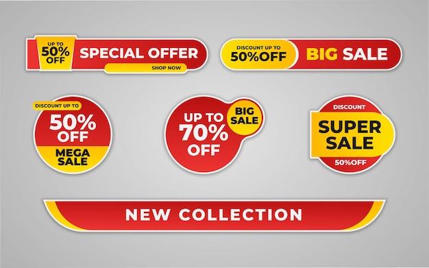 Kolekcja super wzorów naklejek sprzedaży do promocji