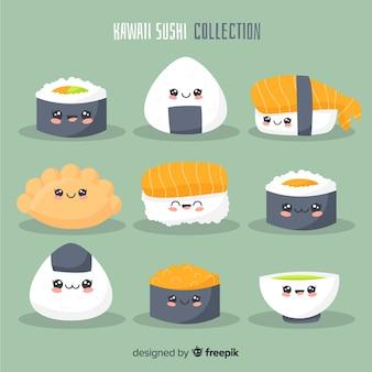 Kolekcja sushi kawaii