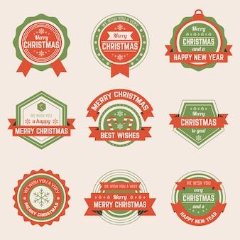 Kolekcja świąteczna odznaka w płaskiej konstrukcji