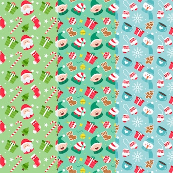 Kolekcja świąteczna wzór płaska konstrukcja