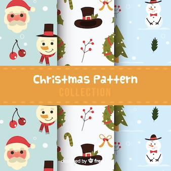 Kolekcja świąteczna wzór w płaskiej konstrukcji