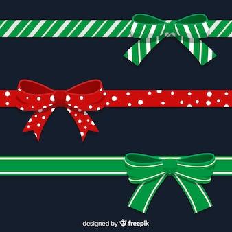 Kolekcja świąteczne wstążki