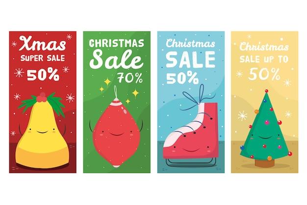 Kolekcja świątecznej historii instagram