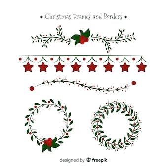 Kolekcja świątecznej płaskiej ramki