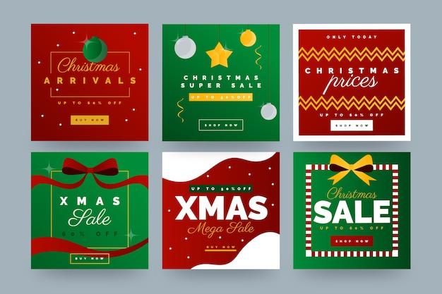 Kolekcja świątecznej sprzedaży instagram post