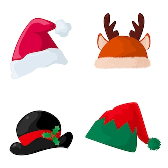 Kolekcja świątecznych czapek