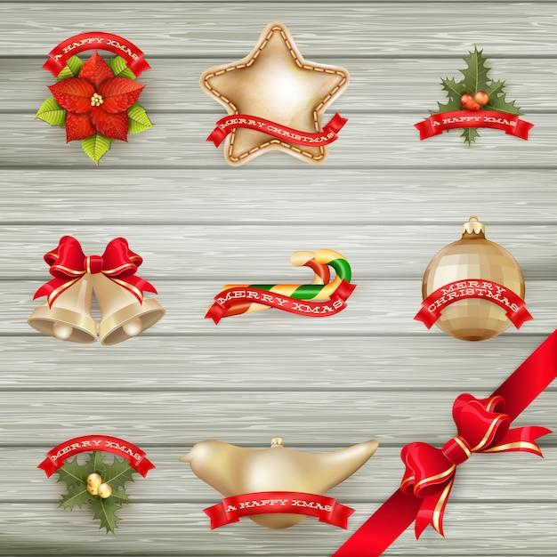 Kolekcja świątecznych dekoracji.