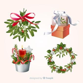 Kolekcja świątecznych elementów