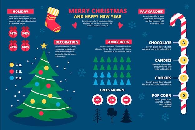 Kolekcja świątecznych infografiki
