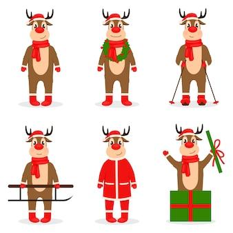 Kolekcja świątecznych jeleni