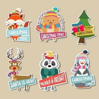 Kolekcja świątecznych naklejek
