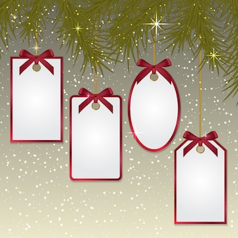 Kolekcja świątecznych tagów
