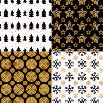 Kolekcja świątecznych wzorów w płaskiej konstrukcji