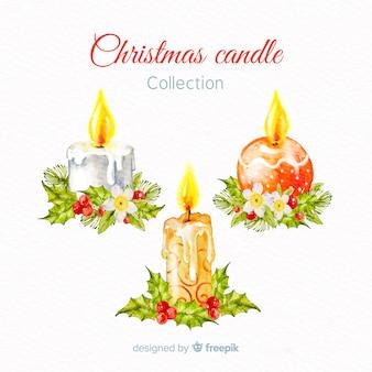 Kolekcja świec świątecznych