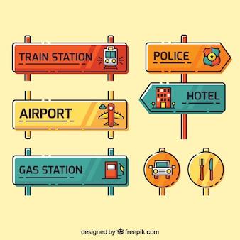 Kolekcja sygnałów w stylu liniowym