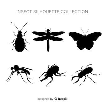 Kolekcja sylwetka owadów