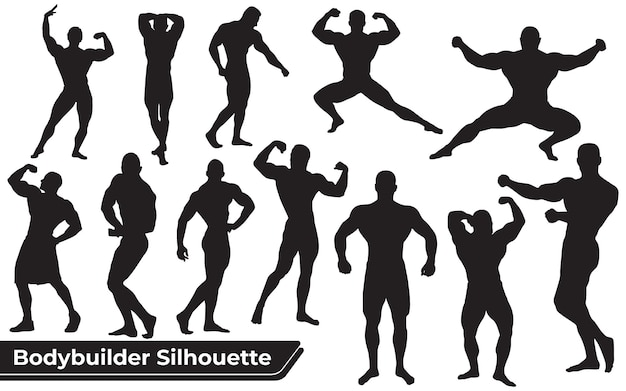 Kolekcja sylwetki fitness i kulturysty