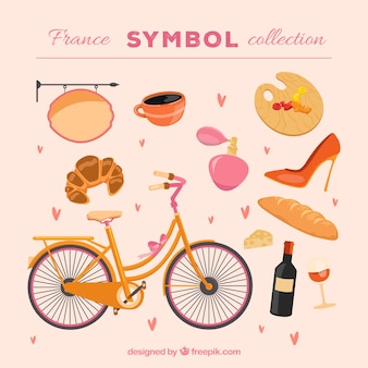 Kolekcja symboli francji
