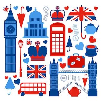 Kolekcja symboli londynu