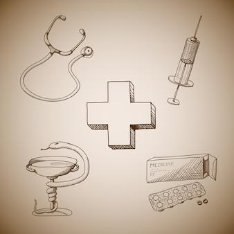 Kolekcja symboli medycznych
