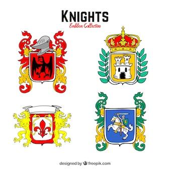 Kolekcja symboli rycerzy