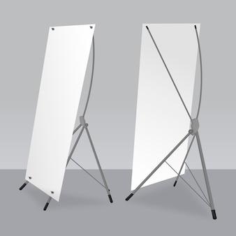 Kolekcja szablonów banerów stojaka x