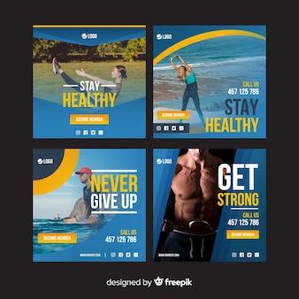 Kolekcja szablonów broszur sportowych