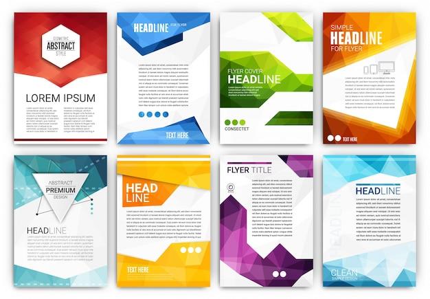 Kolekcja szablonów broszura