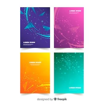 Kolekcja szablonów broszury gradientu