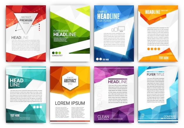Kolekcja szablonów broszury