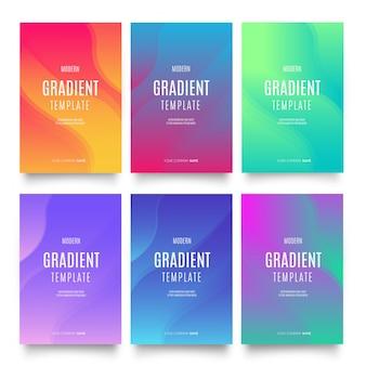 Kolekcja szablonów gradientowych