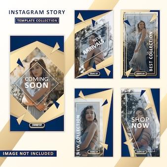 Kolekcja szablonów historii instagram