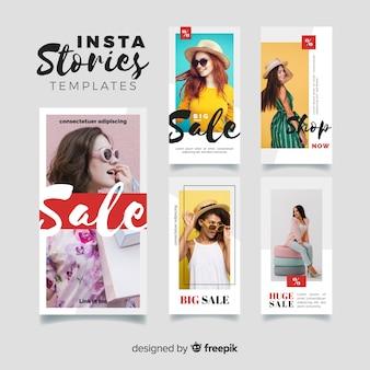 Kolekcja szablonów historii sprzedaży instagram