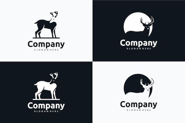 Kolekcja szablonów jelenia, inspiracja do projektowania logo