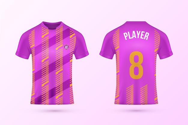 Kolekcja szablonów koszulek piłkarskich