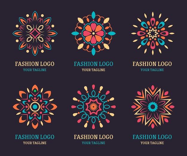 Kolekcja szablonów logo akcesoria mody