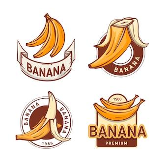 Kolekcja szablonów logo bananów