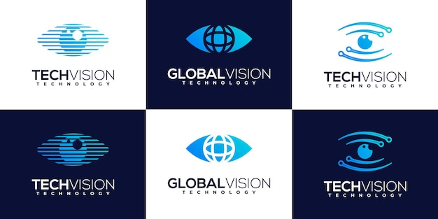 Kolekcja szablonów logo bezpieczeństwa creative tech shield