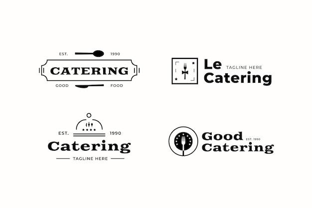 Kolekcja szablonów logo cateringu