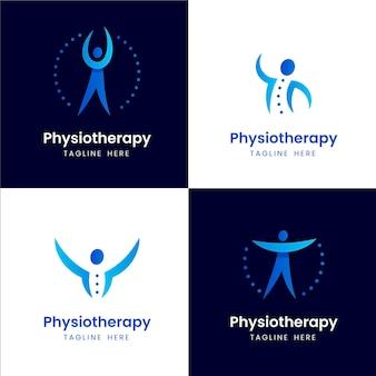 Kolekcja szablonów logo fizjoterapii