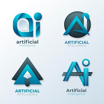 Kolekcja szablonów logo gradientu ai
