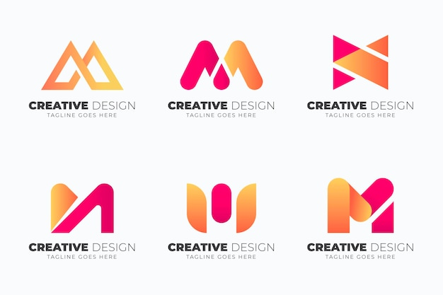 Kolekcja szablonów logo gradientu m