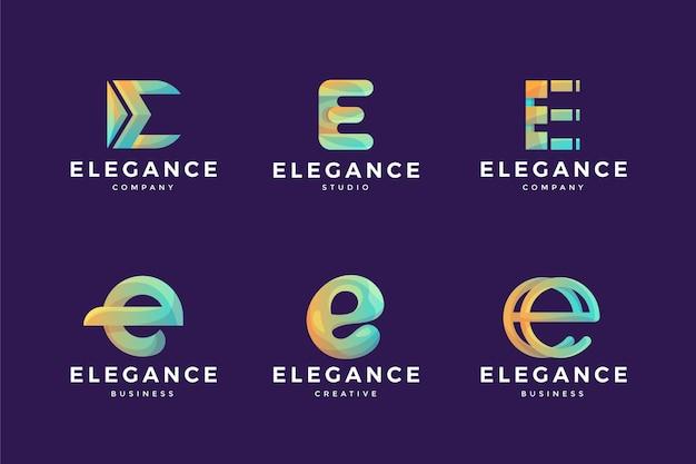 Kolekcja szablonów logo gradientu o