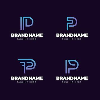 Kolekcja szablonów logo gradientu p