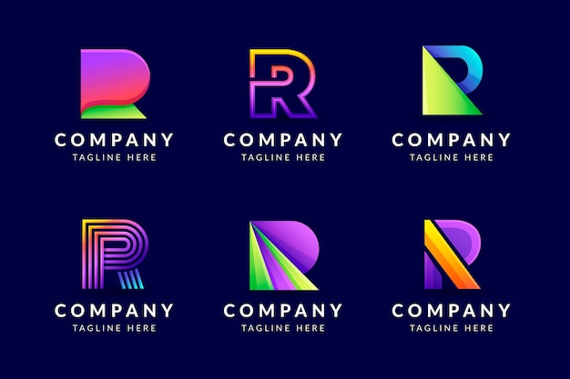 Kolekcja szablonów logo gradientu r