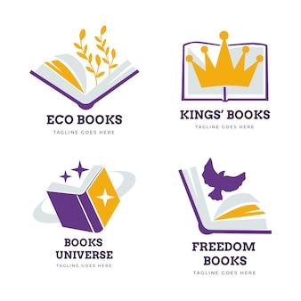 Kolekcja szablonów logo książki