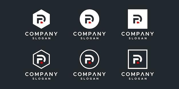 Kolekcja szablonów logo listu rd